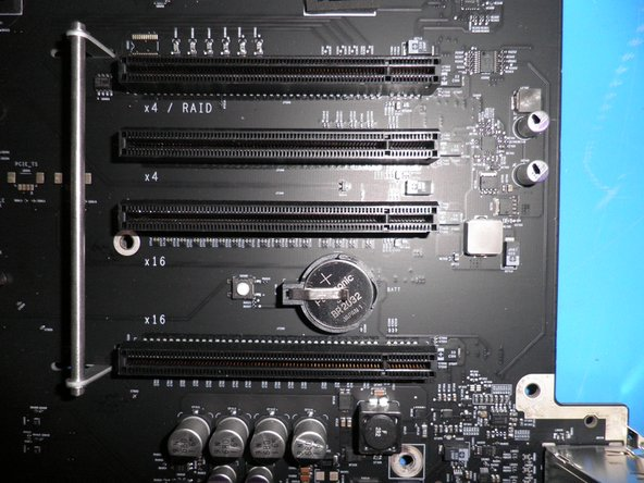A view of the PCI Slots on the Mac Pro Early 2009