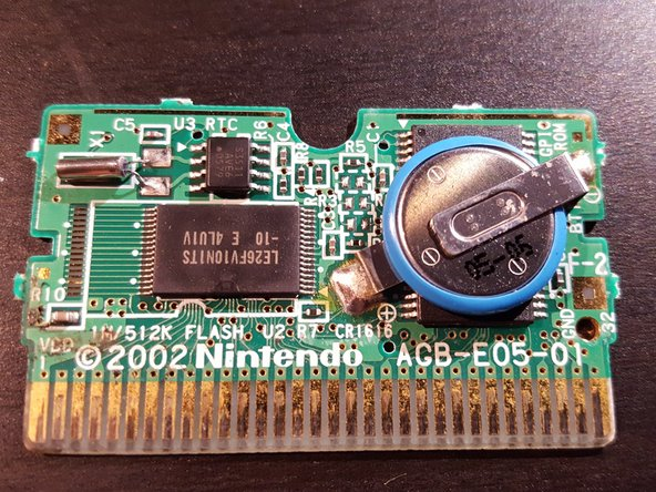 Game Boy Advance Cartridge Battery Replacement