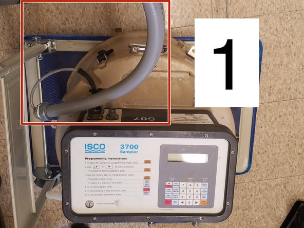 1. Ensure the autosampler wire and autosampler battery wire are threaded through the conduit before heading to the field.
