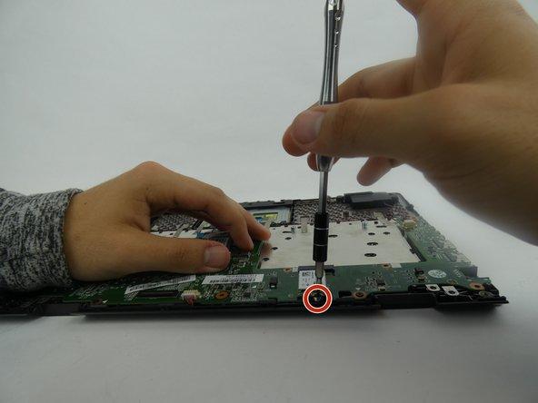 Remove one 5mm screw.