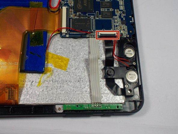 Unclip camera flex cable
