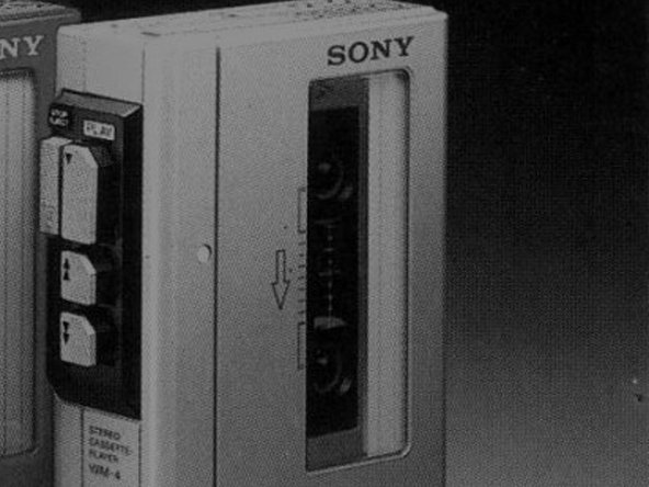 Flip the Sony Walkman so that its rear side faces you.