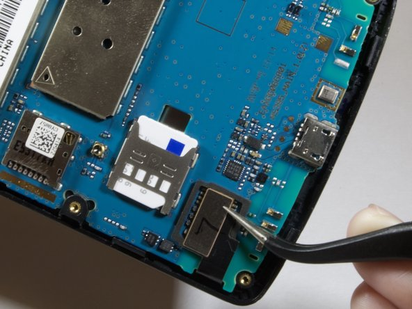 Locate the digitizer connection on the lower left hand side of the device.