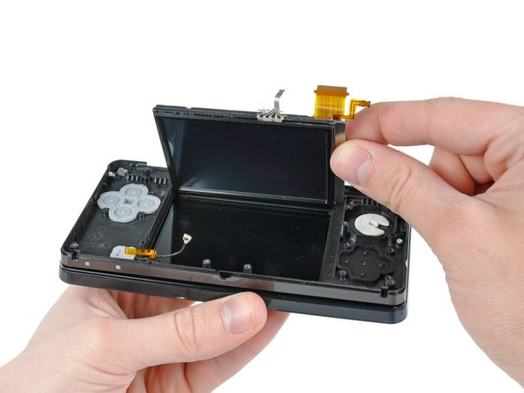 Image 1/3: The lower LCD assembly lifts out without any trouble.
