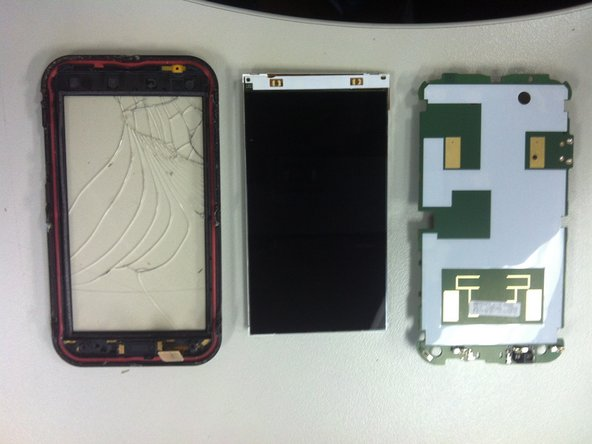Separate the Frame + Digitizer, the LCD and the mainboard.