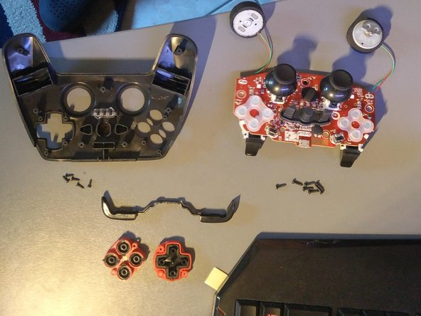 You now have a fully disassembled controller, ready to be repaired or modified