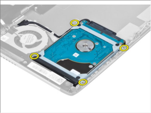 Remove the screws that secure the hard drive to the computer.