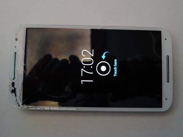 vetro rotto ma touch screen e display funzionante