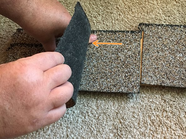 Remove the single broken shingle, carefully, without ripping out the shingles above.