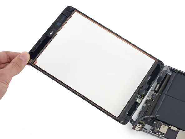 Lift and remove the front panel from the iPad.