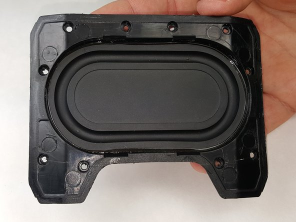 Remove the broken speaker cone plate. Replace with used/new out plate.
