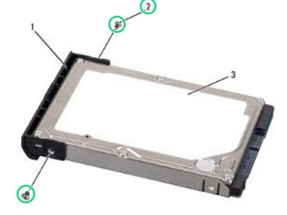 Remove the two screws (one from each side of the hard drive cover), then pull to separate the cover from the hard drive.