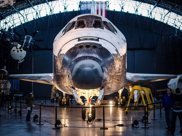 Space Shuttle Discovery is a monument of repair