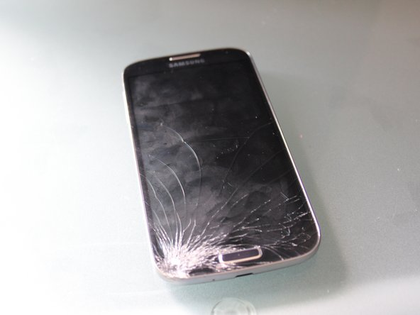 Your broken S4, may or may not be as damaged as the one shown in the photo.