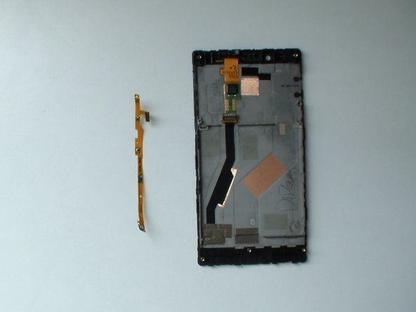Image 3/3: Warm the flex cable and detach it.