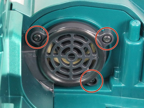 Remove three 10mm screws by rotating counter-clockwise with a T15 Torx screwdriver.