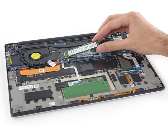 This particular XPS is packing a removable 128 GB Samsung PM851 M.2 form factor SSD.