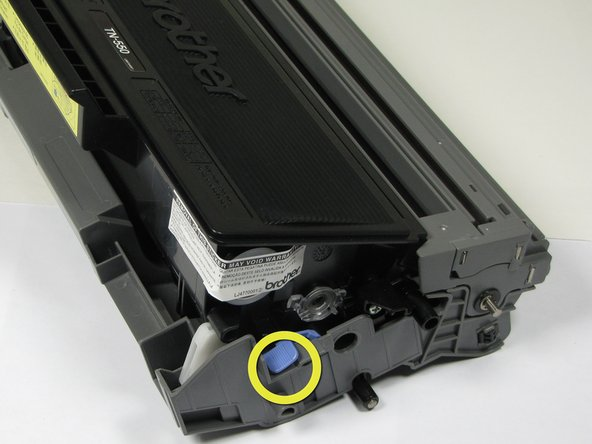 The third picture illustrates an incorrectly installed drum unit and toner cartridge, notice how the blue lever is down.