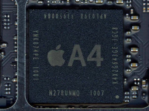 Image 1/3: Apple's A4 microprocessor is the brain of the iPad.