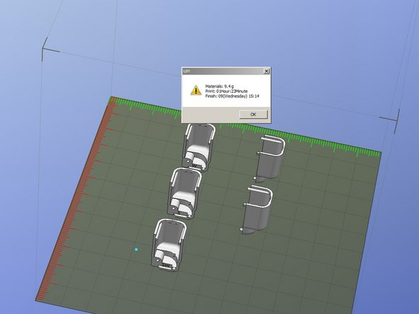UP Visual 3D was used to place the components on the build platform and optimize part build time.