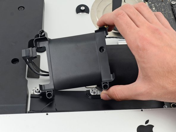 Remove the hard drive tray from the rear enclosure.