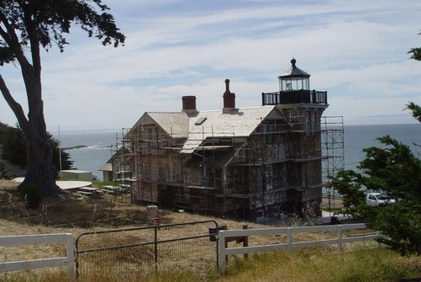 Repair at Point San Luis Lighthouse