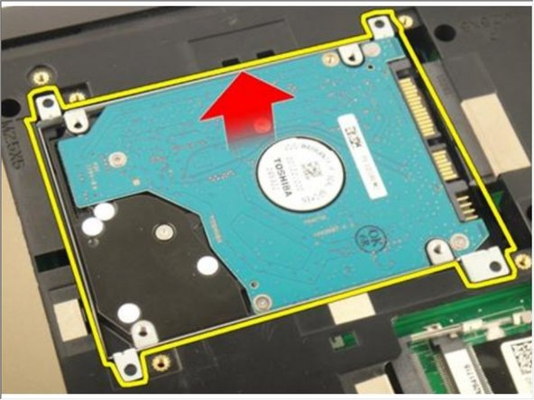 Remove the hard drive module from the system board.