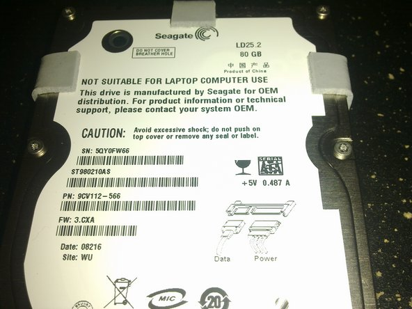 Image 1/2: Here is the Seagate product overview to the Momentus 5400.2 hard drive, model number [http://www.seagate.com/docs/pdf/marketing/po_ld25_2.pdf|ST980210AS]