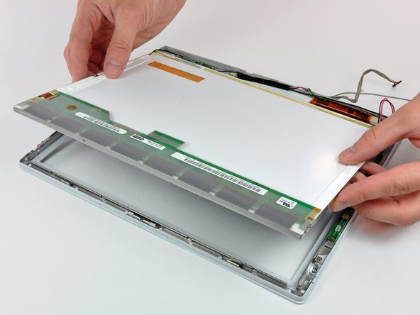 Lift the LCD out of the front bezel and set it aside.