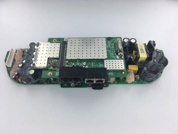 Flip boards so audio board is facing upwards, as is shown in picture.