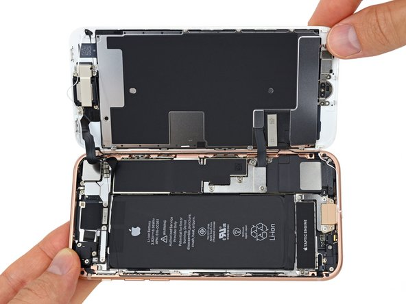 iPhone 8 internals during the teardown