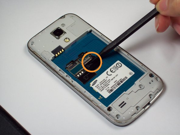 Image 2/2: Remove Memory Card using a tweezer or fingers