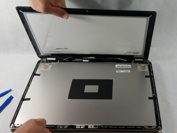 When separating the screen and front panel, it may be helpful to leave an opening tool in the corners so they do not snap closed