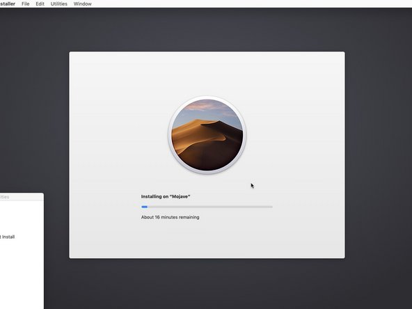 Sit back and relax while Mojave is being installed onto your Mac.