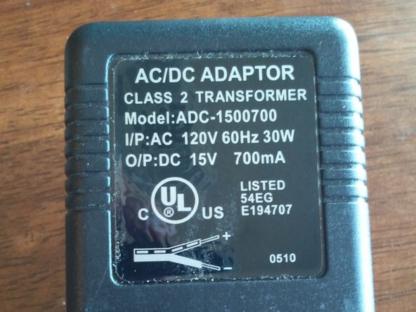 Both power inputs.  AC/DC converter and DC 12V input.