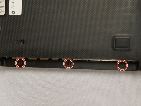Remove three (3) 3mm x 3mm screws with the size 0 Phillips head screwdriver.