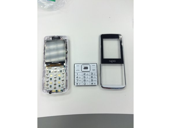 Once the front and back of the phone are separated, the keypad will fall out. You can now replace your old keypad.