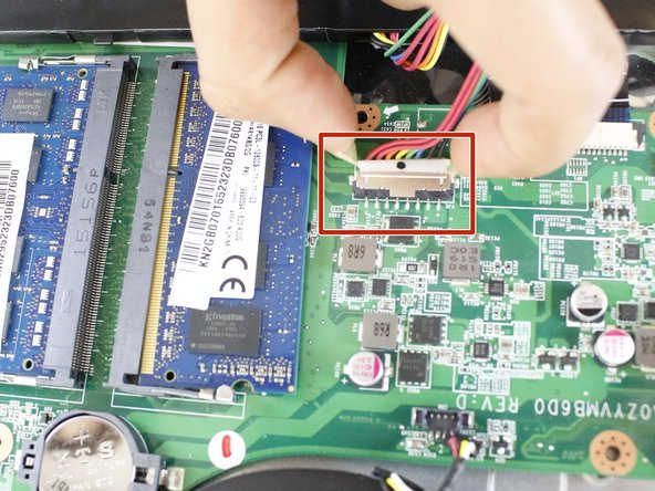 Disconnect the battery from the motherboard.
