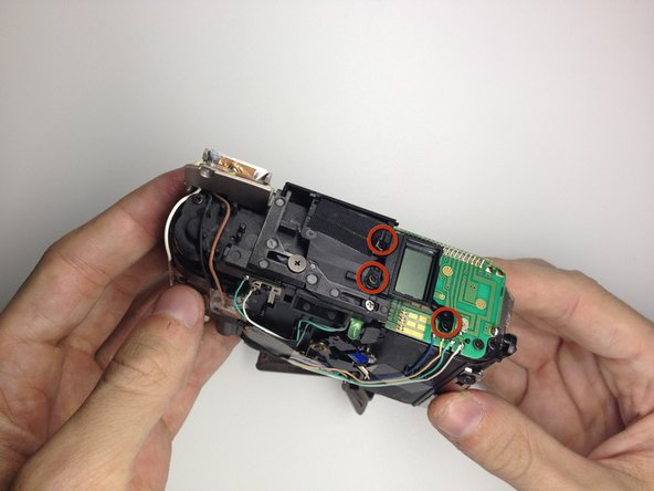 Disassembling Kodak Advantix F350 Display