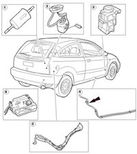 where is my fuel filter located? 2005 2007 ford focus ifixit 02 Ford Focus ZX5 Fuel Diagram