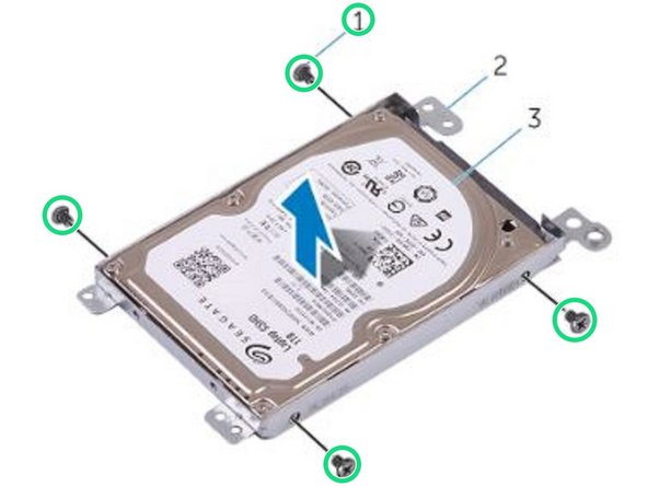 Replace the screws that secure the hard-drive bracket to the hard drive.