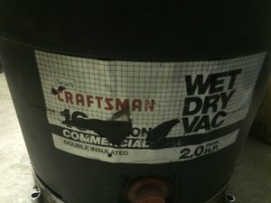Craftsman 16 gallon Wet-Dry Vacuum Repair