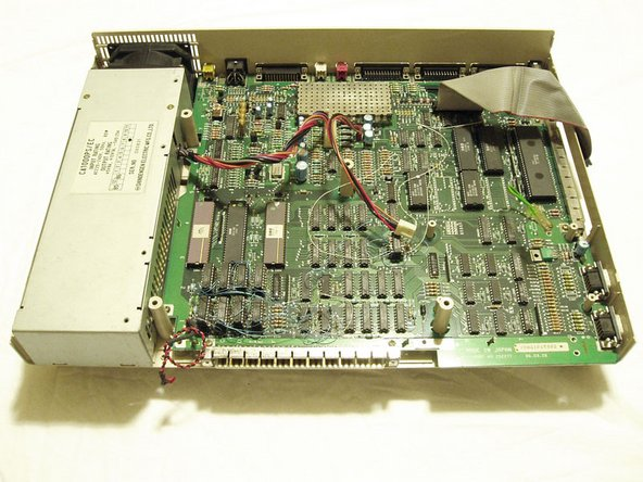 On this Amiga you will notice that there are lots of delicate hook up wires on the board. I am not sure if this is standard however you should exercise care when working around these deilcate connections.