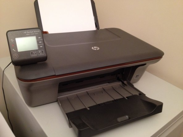 How to fix blank HP Deskjet 3050A screen
