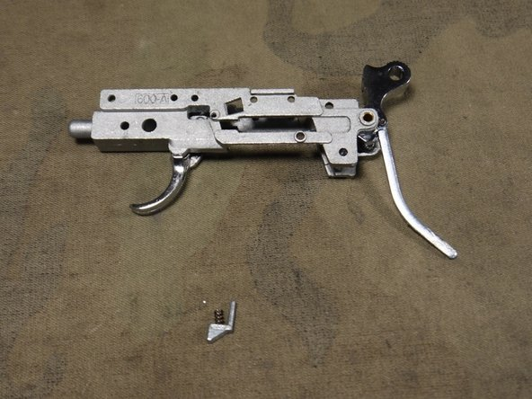 Now the trigger grouping can be removed from the body and your disassembly is complete.