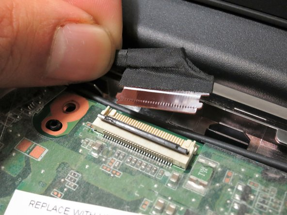 Remove the cable by pulling away from the motherboard.