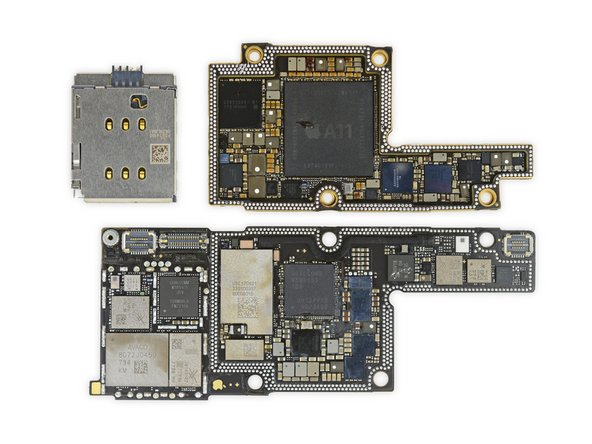 iPhone X logic board teardown