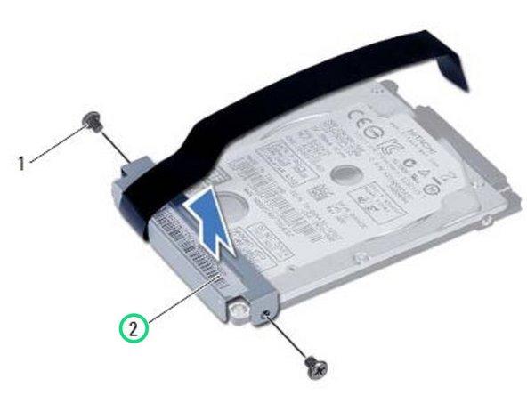 Lift the hard-drive bracket off the hard drive.