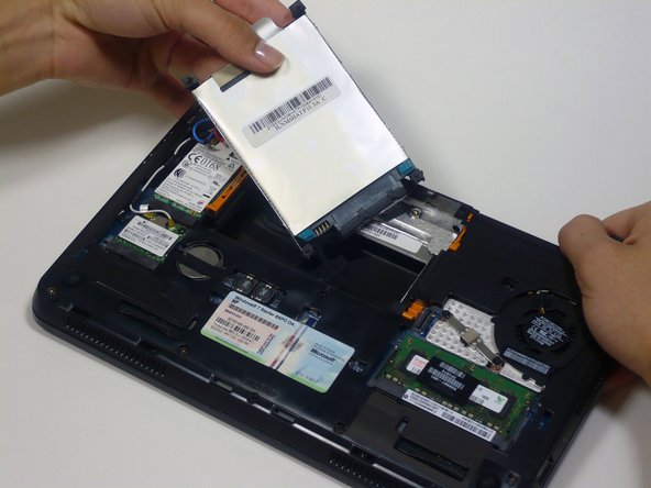 Be aware of the 4 foam cushions on each corner of the hard drive as they may become loose during removal.