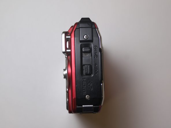 Orient camera to look directly at battery compartment side as shown.